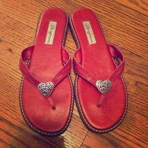 Brighton 8.5 red heart sandals